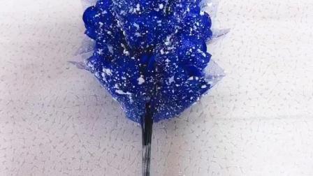 11朵蓝色妖姬包装教程