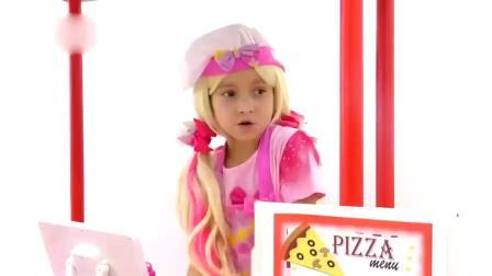 小萝莉做披萨给爸爸吃!亲子趣味早教过家家游戏 萌娃囧事