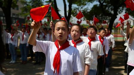 浙江金华农村小学3000多名学生快闪《我和我的祖国》——祖国70华诞献礼