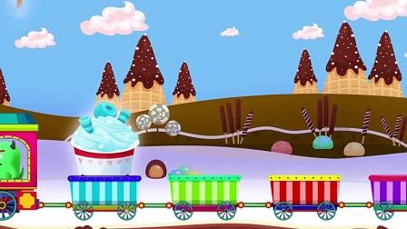 儿童卡通片:小车子搭载各种造型的美味冰淇淋