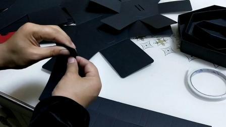 立体蛋糕盒折叠组装教程视频