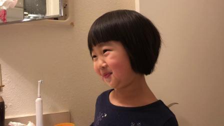 20190106爱玛4岁半刷牙水吐了一身