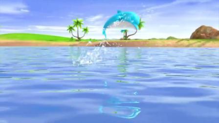 早教益智动画,火车在跑汽车开在田野上,小鸟天上飞、快艇在水上