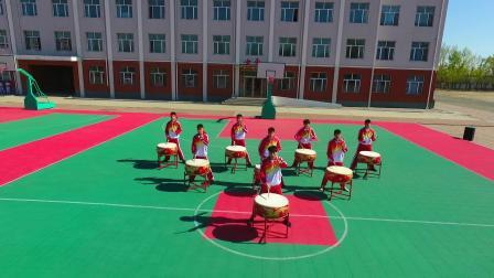 通辽市科尔沁区第九中学龙鼓队表演-2019-4