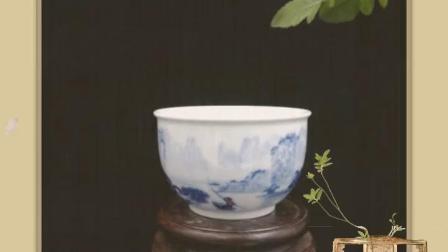 江美华青花茶杯欣赏