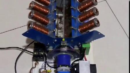 自制八缸磁动发动机
