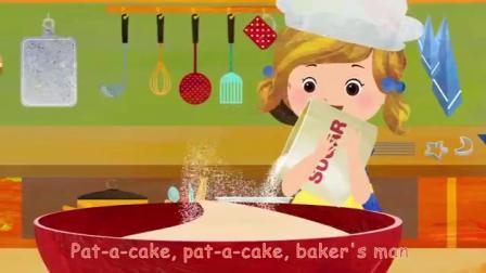 英语儿童歌谣《做蛋糕》