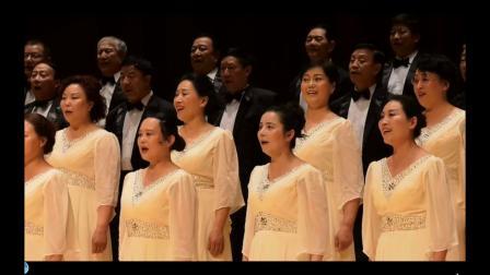 庆建国70年陕西文化节宝鸡市美鸿合唱团演唱(木兰从军)_01