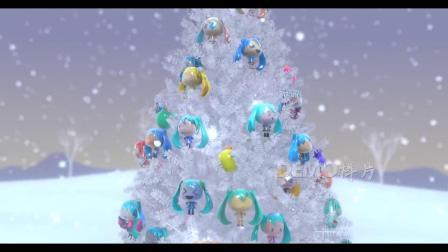 v103 超唯美梦幻圣诞树上挂满了圣诞礼物雪花飘落场景圣诞节2019新年元旦祝福视频素材CG素材库