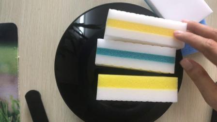纳米海绵复合PU 密胺海绵复合百洁布 厨房清洁海绵