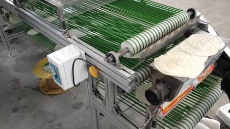看看用全自动烙馍机生产的墨西哥鸡肉卷饼