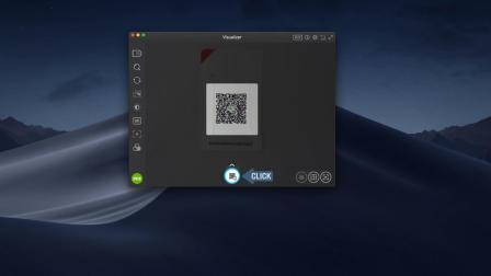 利用 IPEVO Visualizer 应用进程扫描 QR 码