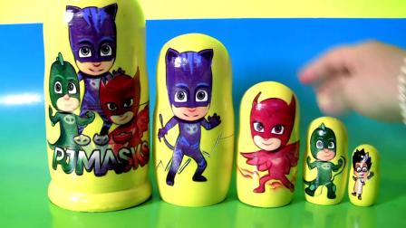 Disney Pj Masks Nesting Dolls Stacking Cups Surprise Toys Romeo Catboy