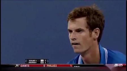 【HL】穆雷VS古尔比斯 2009年美网男单第一轮