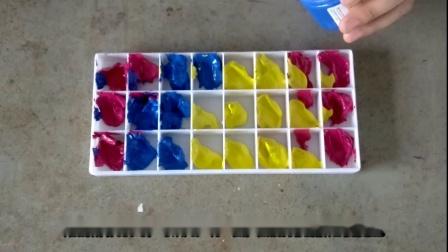 二十四色相环颜色的调配