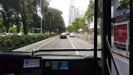 广州第三巴士 233路 海格客车 滘口方向 广州东站总站-天河立交(5.1塞车)