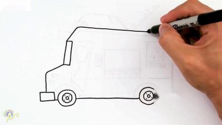 如何画冰淇淋车