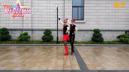 我在乔茜广场舞 爱你每一天  水兵舞双人跳截了一段小视频