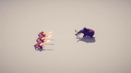 【战争模拟】多少个火箭车才能打死猛犸象?
