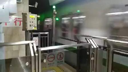 上海地铁2号线212号车南京西路站下行出站(徐泾东站方向)