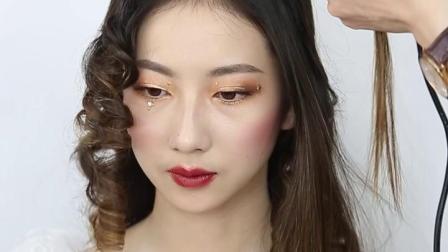 太原化妆培训学校新娘复古卷发造型