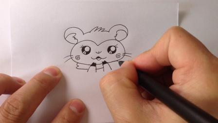 可爱动物简笔画.小仓鼠