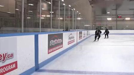 我在外国冰球教学--冰球战术 板墙边护球技巧1【转载】截了一段小视频