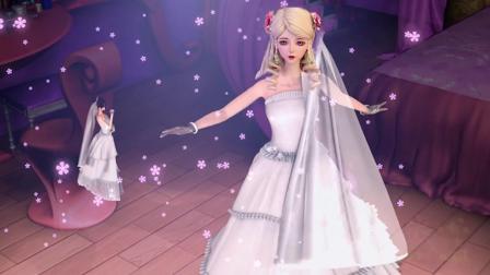 精灵梦叶罗丽:叶罗丽成员一起穿婚纱,灵公主像仙女王默最美!