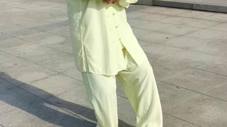 冯老师在习练杨式四十式太极拳