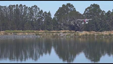 FMS二战机J3水上起飞降落航模遥控飞机电动固定翼野马无风模型