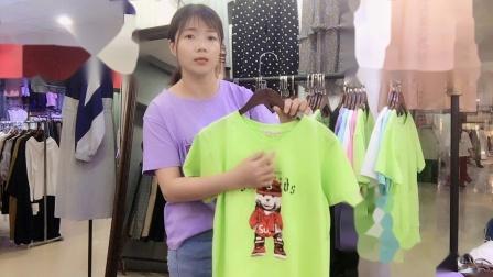 纯棉短袖糖果色T恤走份 248/份包邮 10件可挑款 四姑娘女装批发第一站