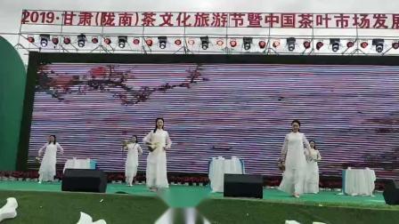 芙蓉门六仙女长嘴壶茶艺表演在甘肃陇南茶文化旅游节演出