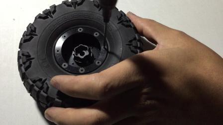 DC 1.9寸金属轮毂夹1.9寸龙爪轮胎 安装视频