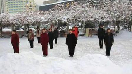 2013.1.2烟台老年太极协会:武韵直属队雪中晨练(清晰)
