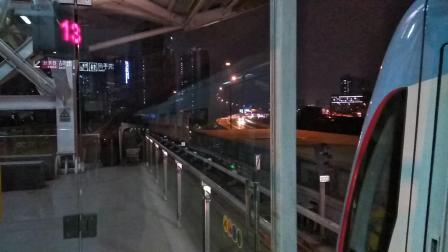 广州地铁5号线L4型哆啦A梦列车在坦尾往黄埔客运港方向关门出站