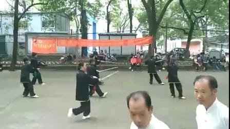 赣州市虔州健身俱乐部会员交流大聚会 大润发健身队演示:四十二式太极剑
