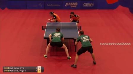 2019年塞尔维亚公开赛 女双 决赛 吴颖岚苏慧音vs玛达拉斯佩格尔 乒乓球比赛视频 完整
