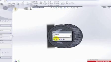 SolidWorks机械设计--同步轮调节装置