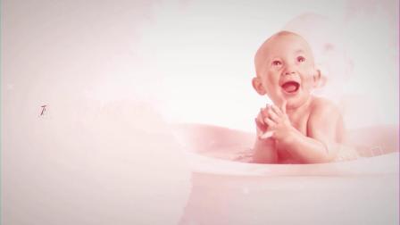 BD01生日快乐祝福视频AE模板可爱儿童满月周岁生日成长电子相册制作图文宣传片 文字片头 开场