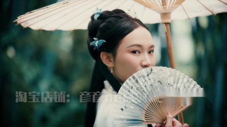 许愿无肖像版 唯美汉服中国风mv摄影岭南寺庙竹林 原创可商用视频素材