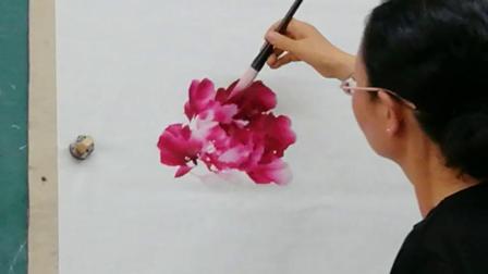 李西景老师牡丹画法