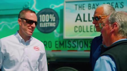 比亚迪纯电动环卫车驶入硅谷中心地区