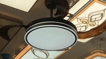 8049-A黑风扇灯,餐厅吊扇灯书房房间都可以用的。
