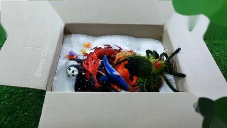 学习动物的颜色和农场惊喜玩具为孩子们在泡沫珠