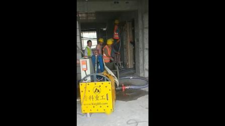 银兴路4号地块项目二次构造输送泵,小型混凝土输送泵施工视频