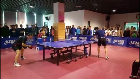 """大庆市第六届""""人保财险杯""""乒乓球赛决赛 罗宾VS袁磊"""