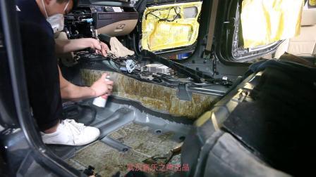 宝马525Li汽车音响无损改装 全车铲除沥青隔音 改装德国零点200喇叭 德国麦仕UP7功放