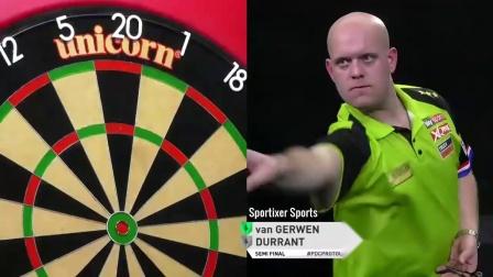 2019 PDC飞镖职业选手锦标赛资格赛第15场半决赛 van Gerwen vs Durrant