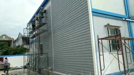 新型外墙材料pvc外墙装饰板外墙快装扣板pvc外墙挂板安装视频教程