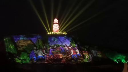 陕西省延安市宝塔山灯光秀